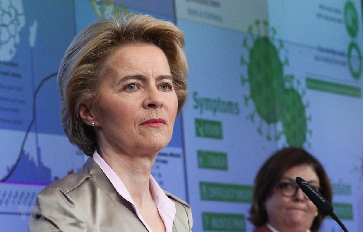 Chủ tịch Ủy ban châu Âu Ursula von der Leyen. (Ảnh: THX/TTXVN)