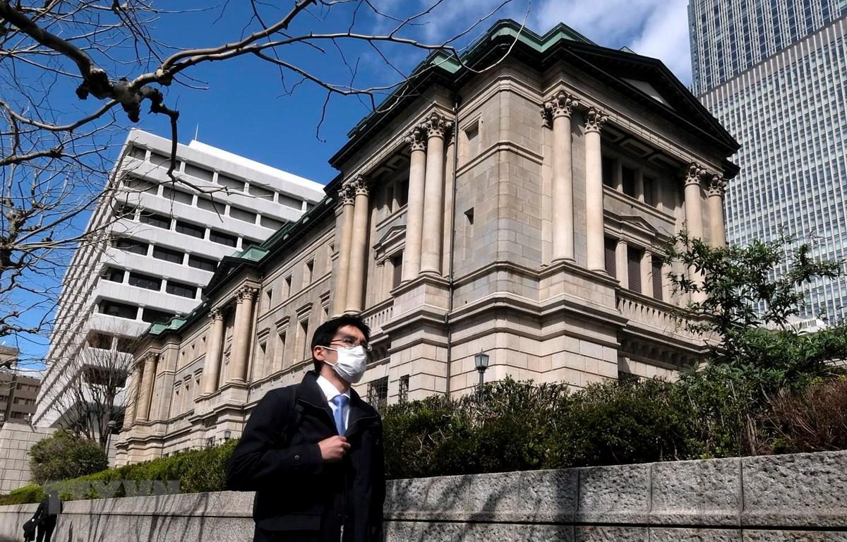 Trụ sở Ngân hàng Trung ương Nhật Bản tại Tokyo ngày 16/3 vừa qua. (Ảnh: AFP/TTXVN)