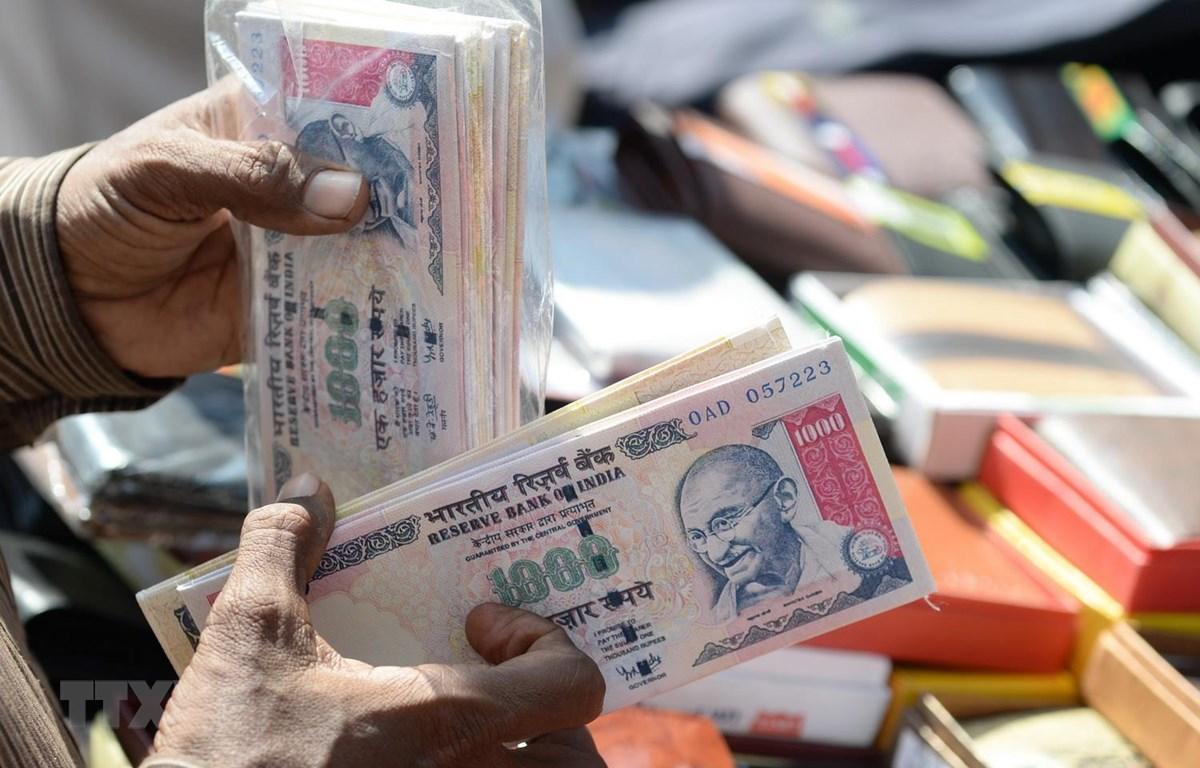 Đồng rupee của Ấn Độ. (Ảnh: AFP/TTXVN)