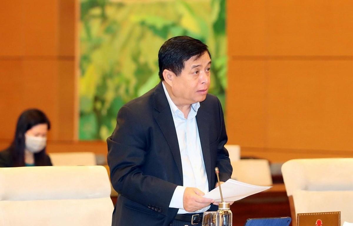 Bộ trưởng Bộ Kế hoạch và Đầu tư Nguyễn Chí Dũng. (Ảnh: Trọng Đức/TTXVN)