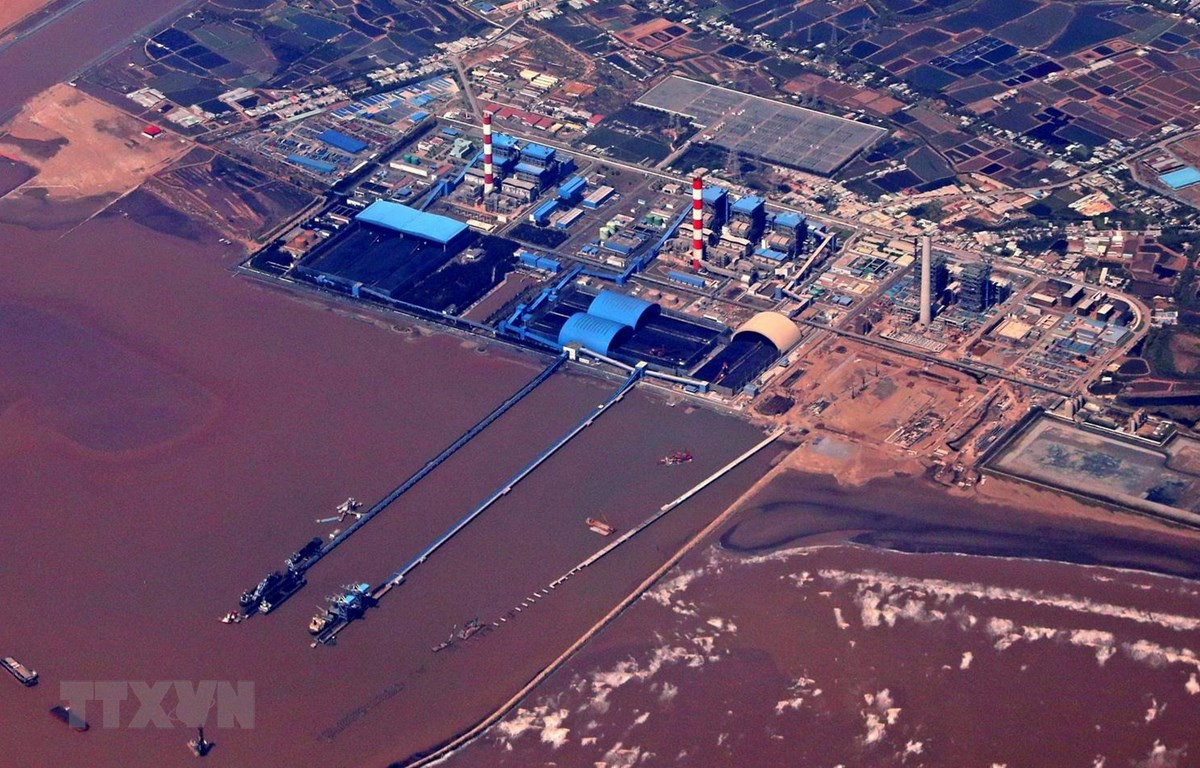 Toàn cảnh Trung tâm Nhiệt điện Duyên Hải, tỉnh Trà Vinh. (Ảnh: Ngọc Hà/TTXVN)