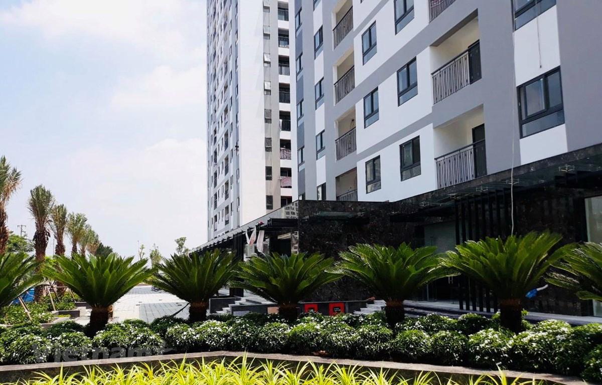 Dự án HanHomes Giang Biên (quận Long Biên, Hà Nội) được đầu tư xây dựng đồng bộ hệ thống hạ tầng kỹ thuật và xã hội. (Ảnh: Minh Nghĩa/Vietnam+)
