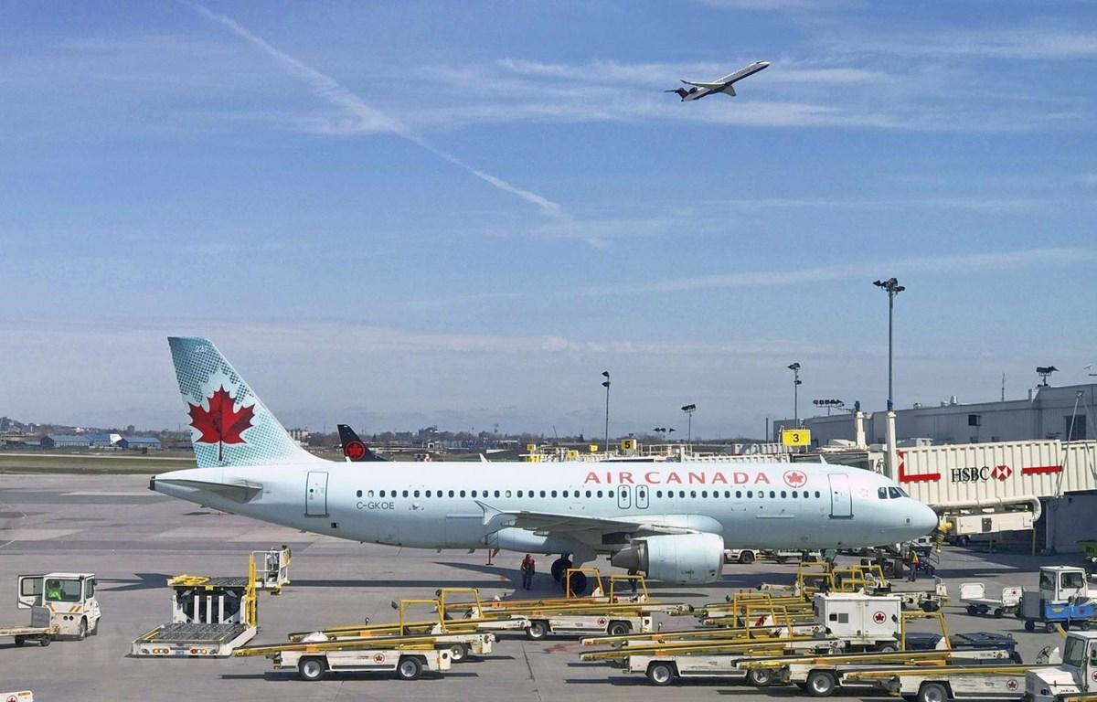 Máy bay của Hãng hàng không Air Canada tại sân bay Trudeau, gần Montreal. (Ảnh: AFP/TTXVN)