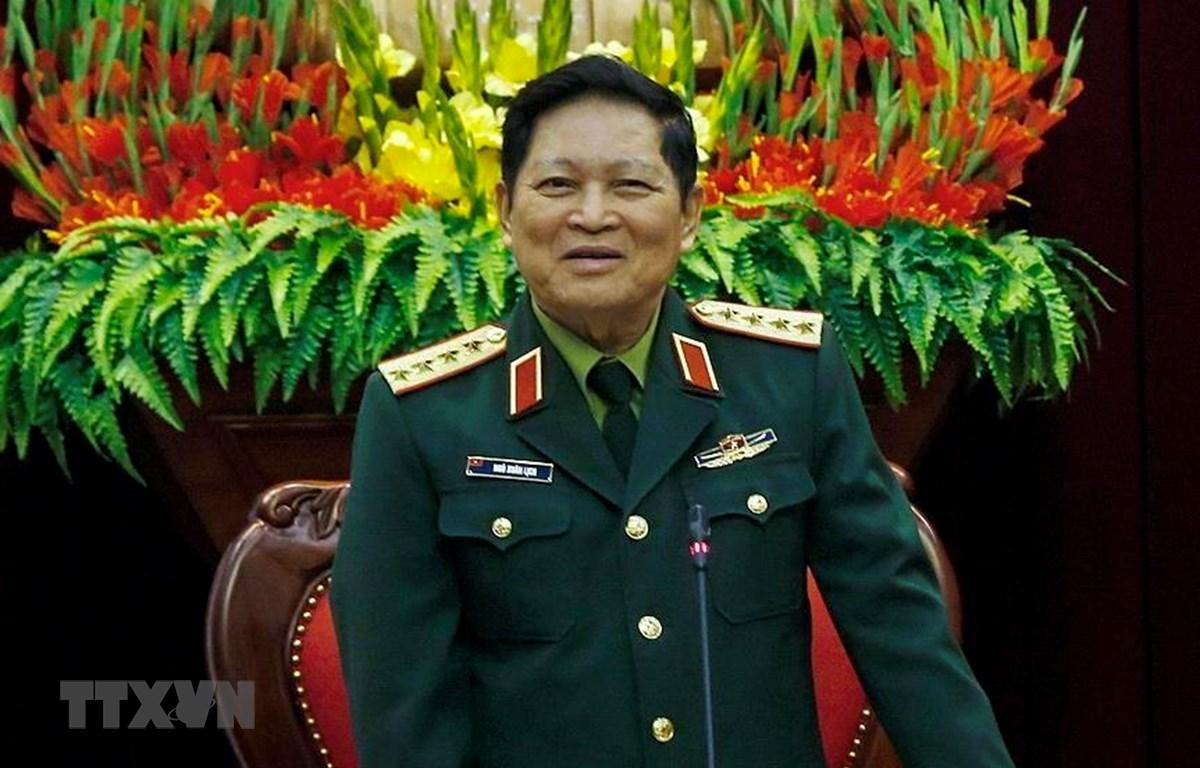 Đại tướng Ngô Xuân Lịch, Ủy viên Bộ Chính trị, Phó Bí thư Quân ủy Trung ương, Bộ trưởng Bộ Quốc phòng. (Ảnh: Trọng Đạt/TTXVN)