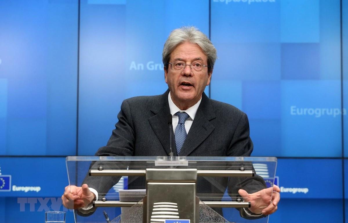 Ủy viên phụ trách kinh tế của EU Paolo Gentiloni. (Nguồn: EPA-EFE)