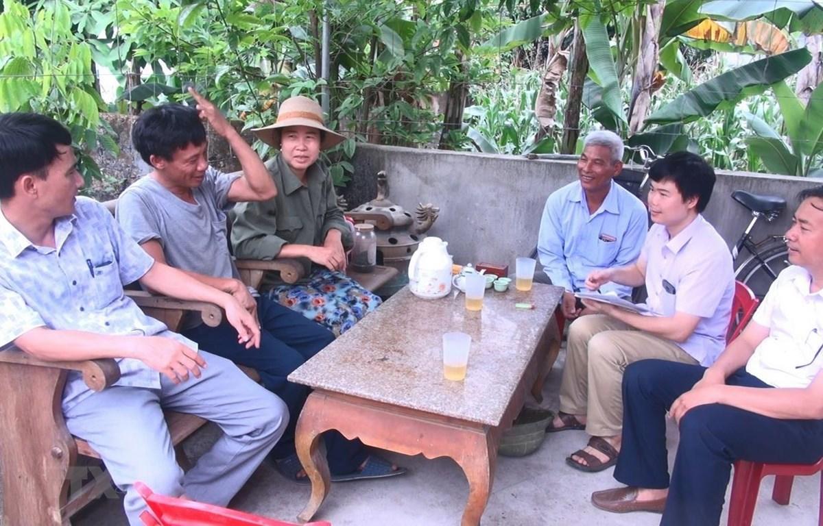 Gia đình chị Nguyễn Thị Hiền xã Xuân lập, huyện Thọ Xuân, Thanh Hóa đã từ chối nhận tiền hỗ trợ với hy vọng chung sức cùng cả nước vượt qua đại dịch. (Ảnh: Khiếu Tư/TTXVN )