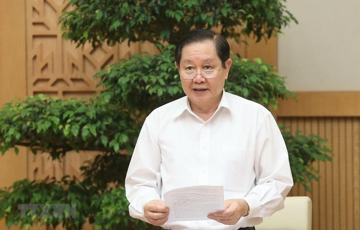 Bộ trưởng Bộ Nội vụ Lê Vĩnh Tân. (Ảnh: Doãn Tấn/TTXVN)