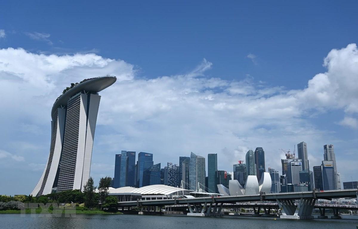 Toàn cảnh khu vực quận tài chính thương mại ở Singapore, ngày 26/5 vừa qua. (Ảnh: AFP/TTXVN)