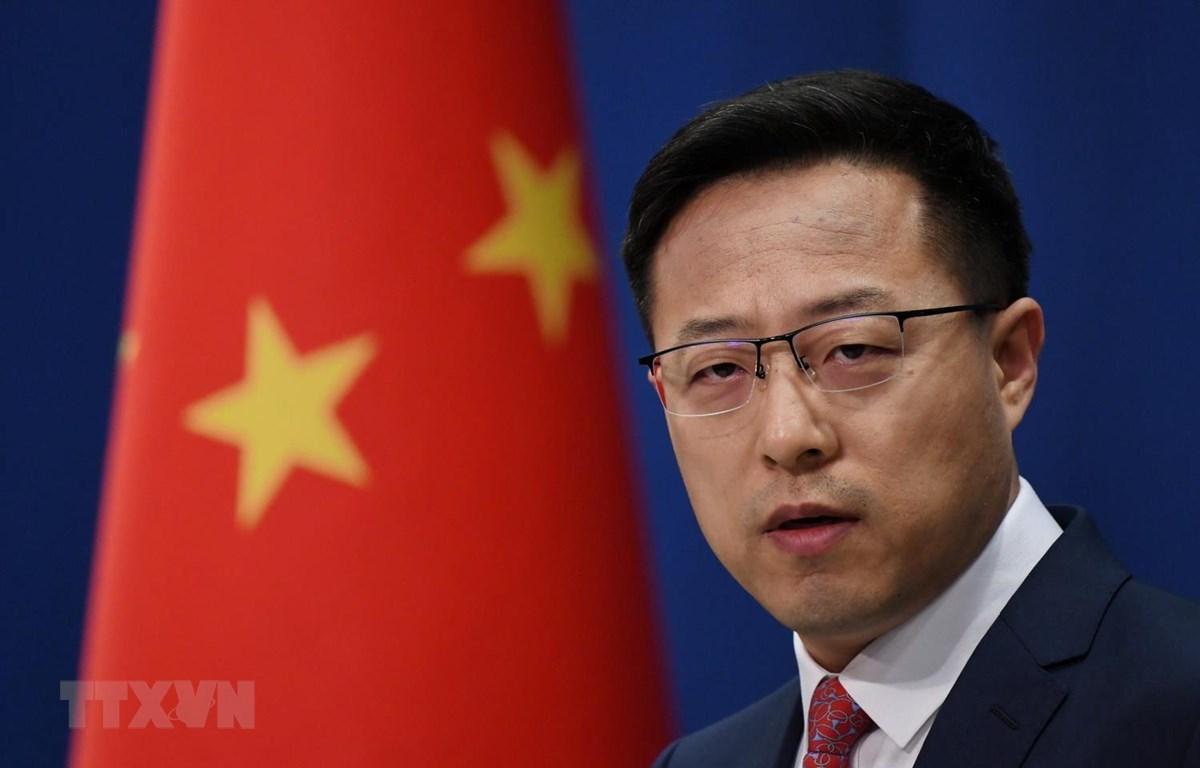 Người phát ngôn Bộ Ngoại giao Trung Quốc Triệu Lập Kiên. (Ảnh: AFP/TTXVN)