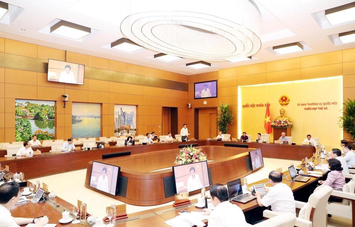 Quang cảnh một phiên họp của Ủy ban Thường vụ Quốc hội . (Ảnh: Trọng Đức/TTXVN)