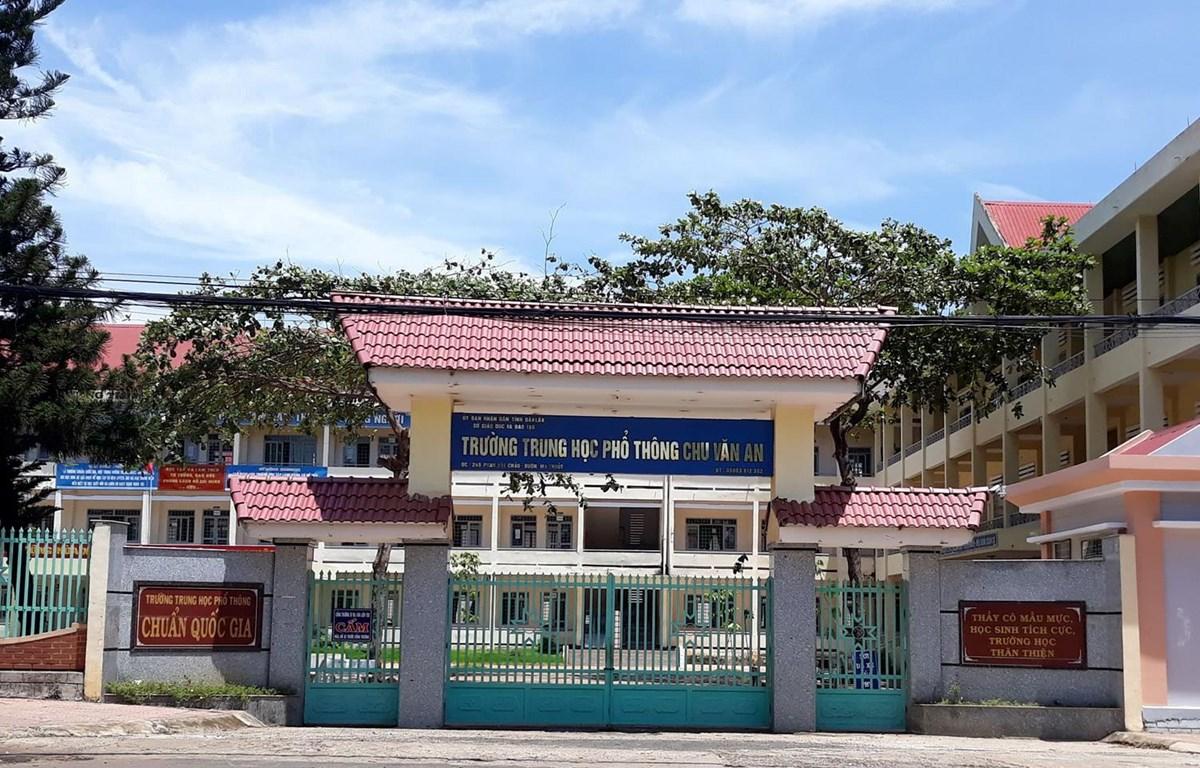 Trường THPT Chu Văn An, thành phố Buôn Ma Thuột. (Nguồn: baodaklak)
