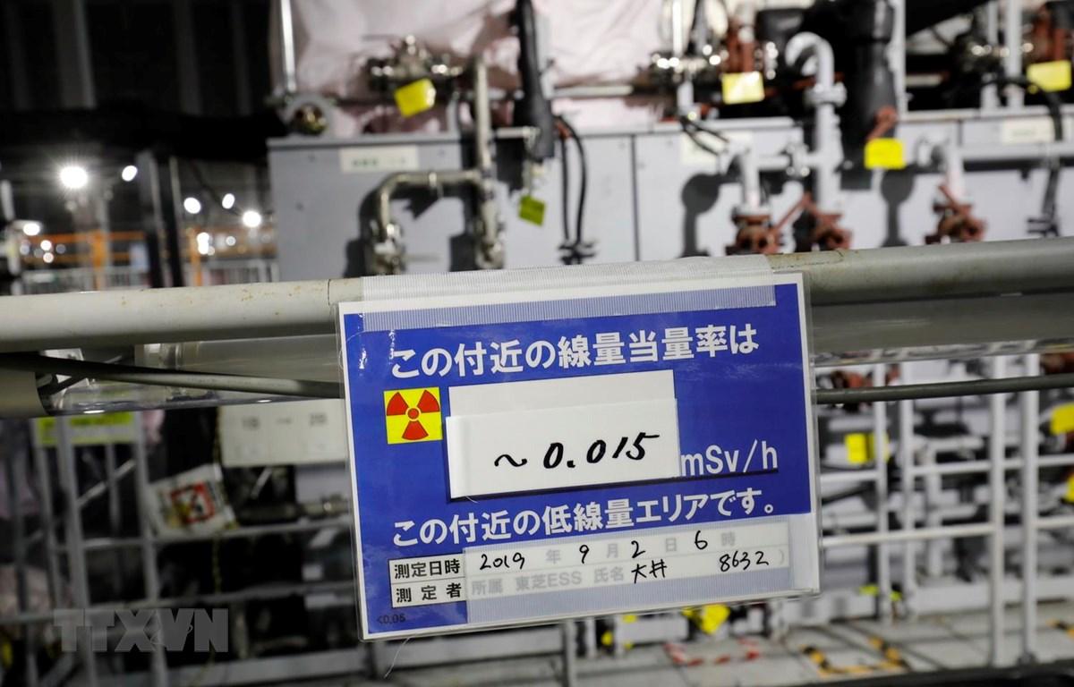 Khu vực xử lý nước thải tại Nhà máy Điện hạt nhân Fukushima số 1 vào thời điểm tháng 10/2019. (Ảnh: Đào Thanh Tùng/TTXVN)