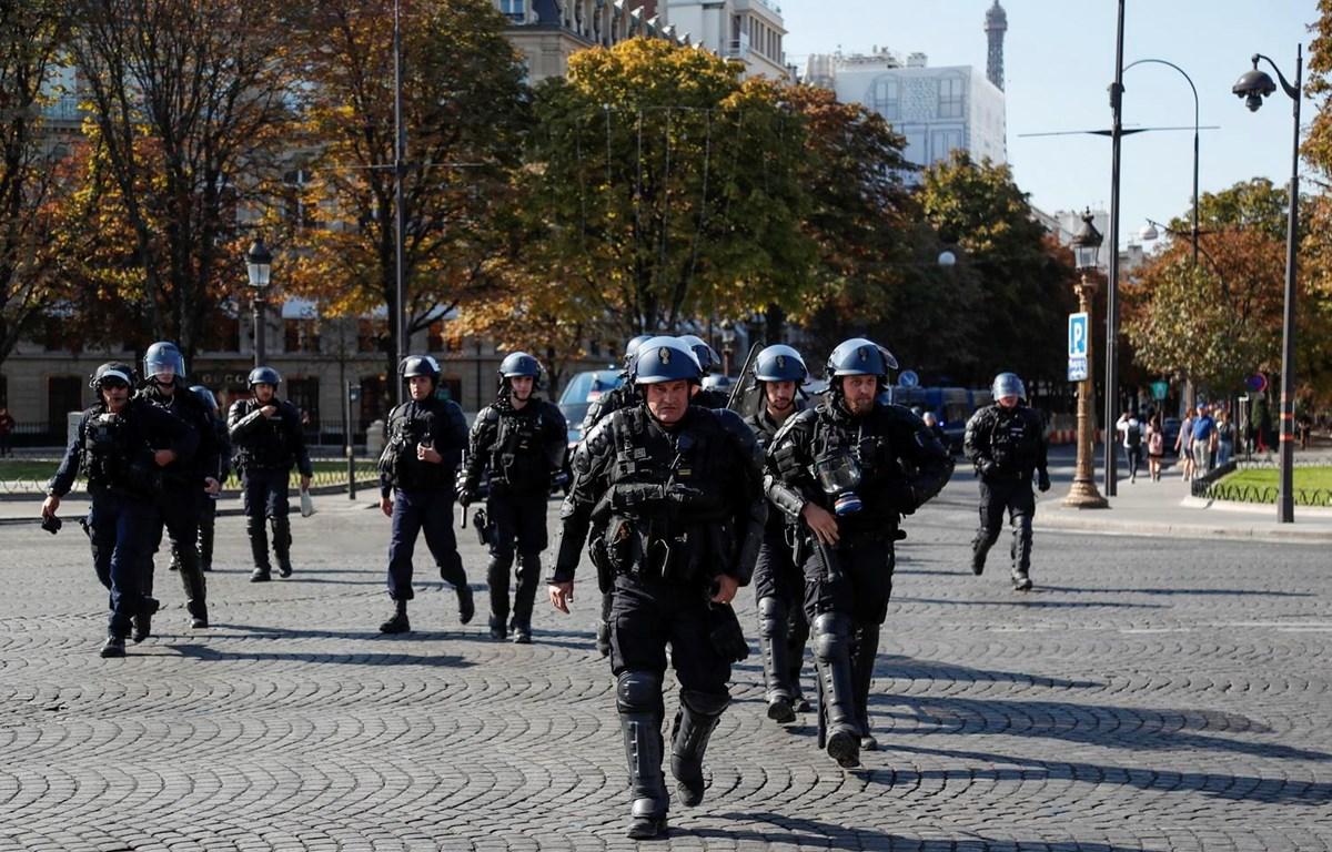 Cảnh sát Pháp. (Ảnh: AFP/TTXVN)