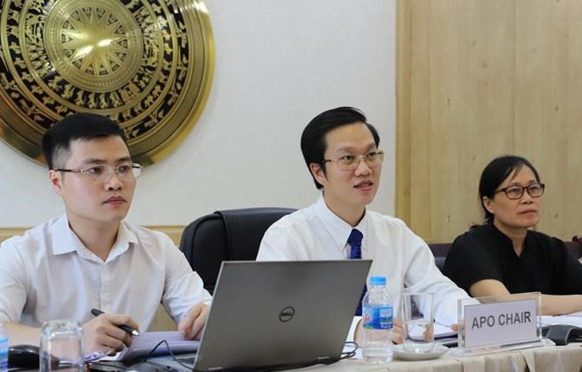 Phó Tổng cục trưởng Hà Minh Hiệp đắc cử Chủ tịch APO nhiệm kỳ 2020-2021. (Nguồn: most.gov)