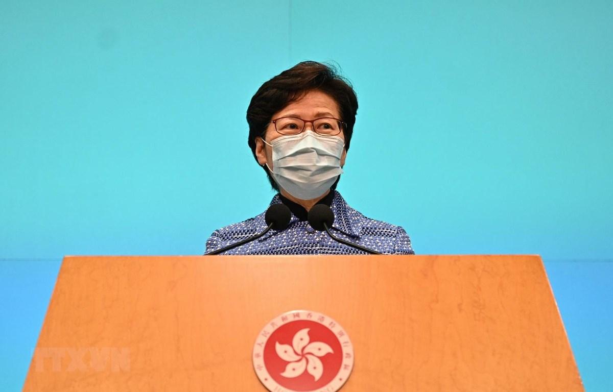 Trưởng Đặc khu hành chính Hong Kong (Trung Quốc) Lâm Trịnh Nguyệt Nga. (Ảnh: AFP/TTXVN)