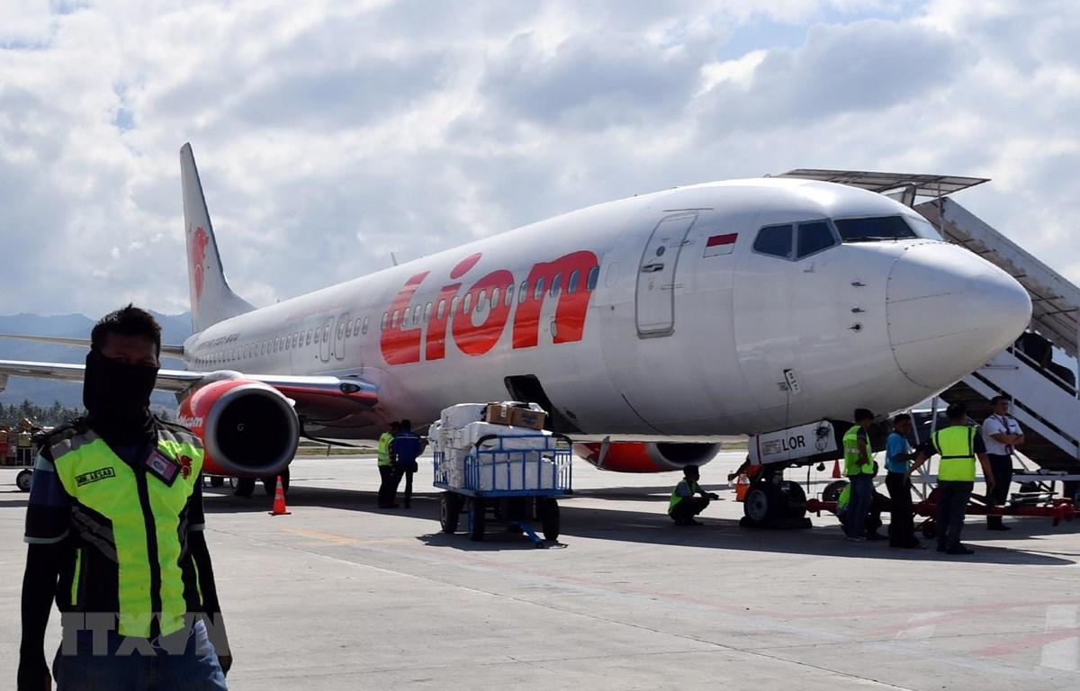 Máy bay của hãng hàng không Lion Air tại sân bay ở Palu, Indonesia. (Ảnh: AFP/TTXVN)