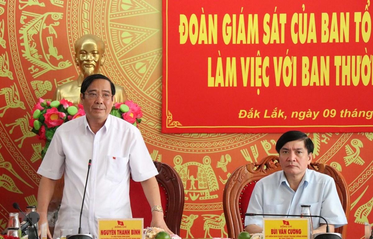 Ủy viên Trung ương Đảng, Phó Trưởng ban Thường trực Ban Tổ chức Trung ương Nguyễn Thanh Bình. (Ảnh: Tuấn Anh/TTXVN)