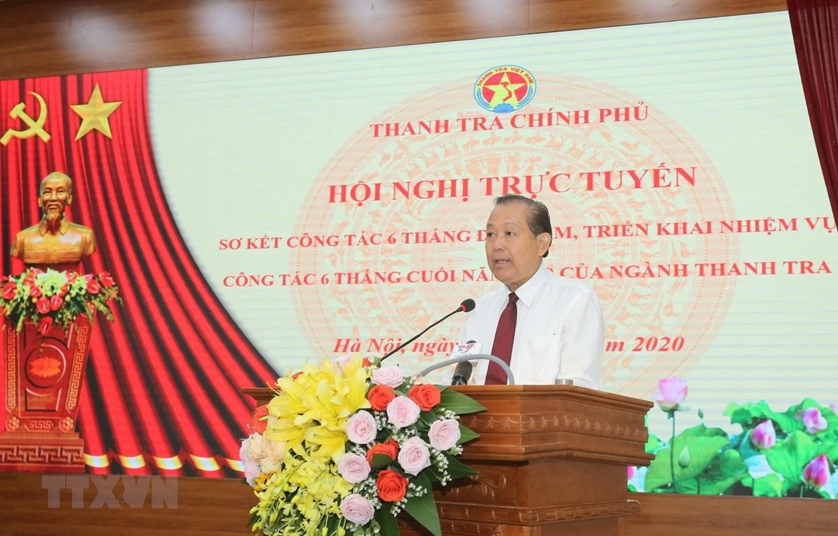 Phó Thủ tướng Thường trực Chính phủ Trương Hòa Bình phát biểu chỉ đạo Hội nghị. (Ảnh: Doãn Tấn/TTXVN)