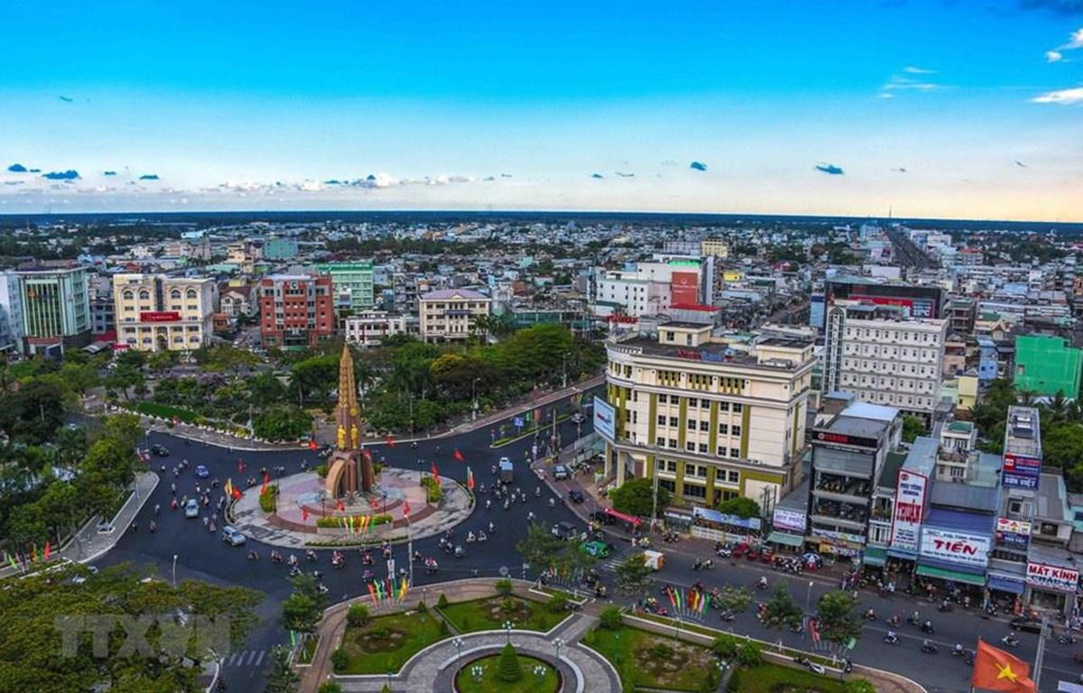 Một góc thành phố Cà Mau. (Nguồn: TTXVN)