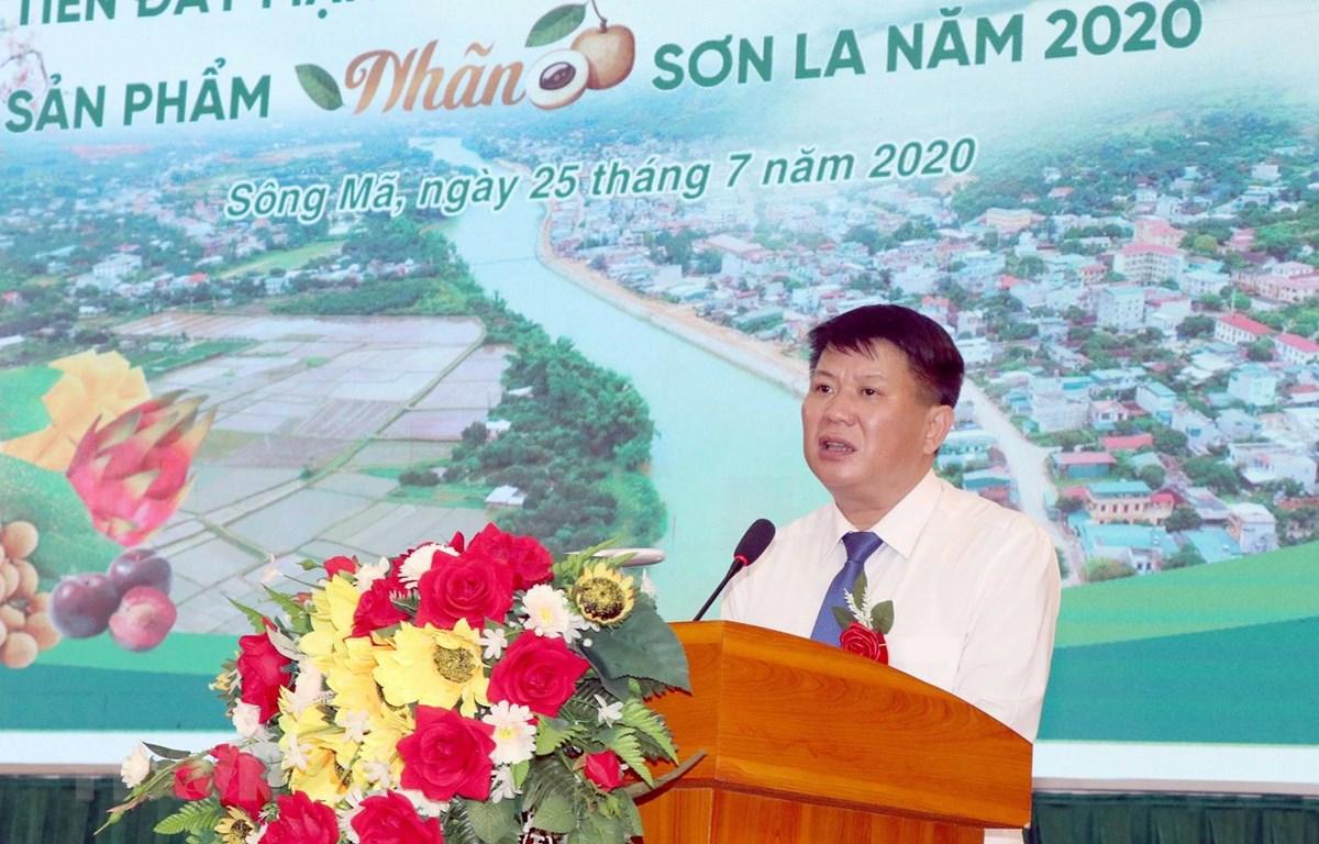 Ông Lò Minh Hùng, Phó Chủ tịch UBND tỉnh Sơn La phát biểu. (Ảnh: Quang Quyết/TTXVN)