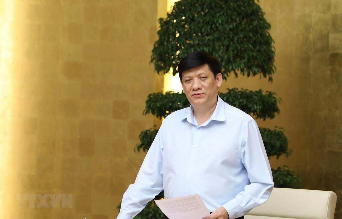 Quyền Bộ trưởng Bộ Y tế Nguyễn Thanh Long. (Ảnh: Văn Điệp/TTXVN)