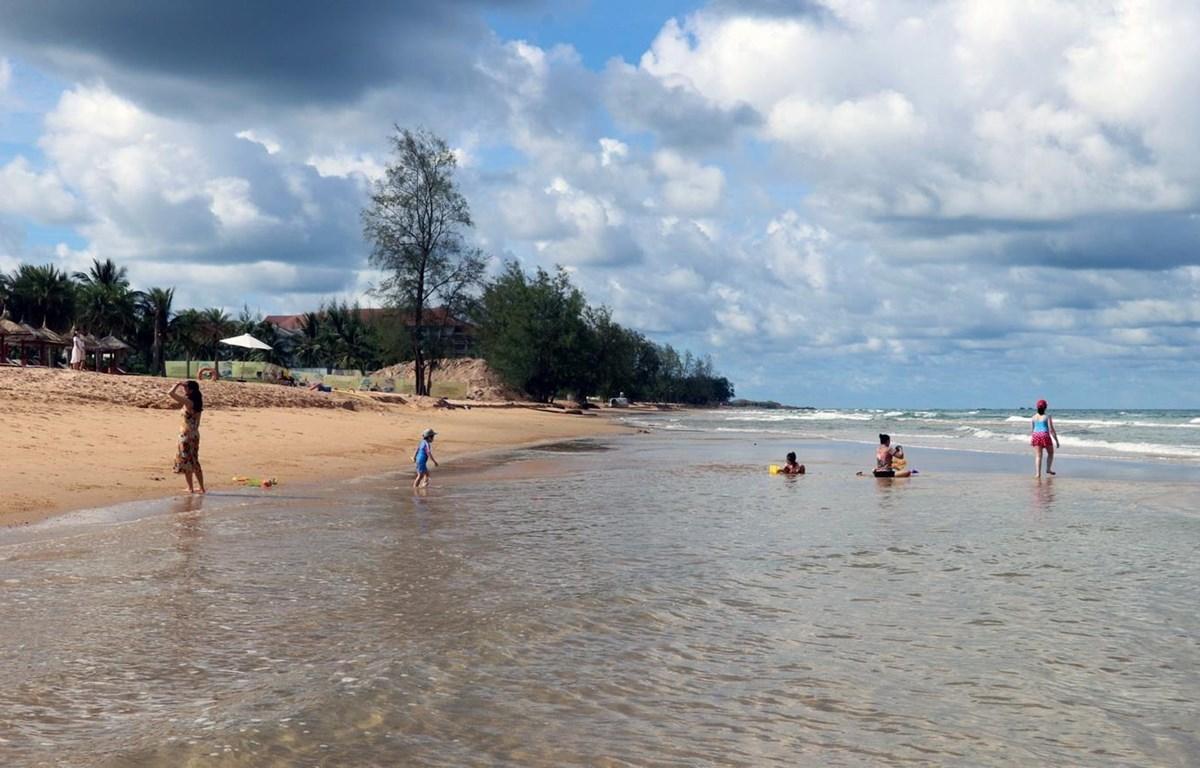 Bãi biển Bãi Dài, xã Gành Dầu, huyện đảo Phú Quốc, tỉnh Kiên Giang. (Ảnh: Lê Huy Hải/TTXVN)
