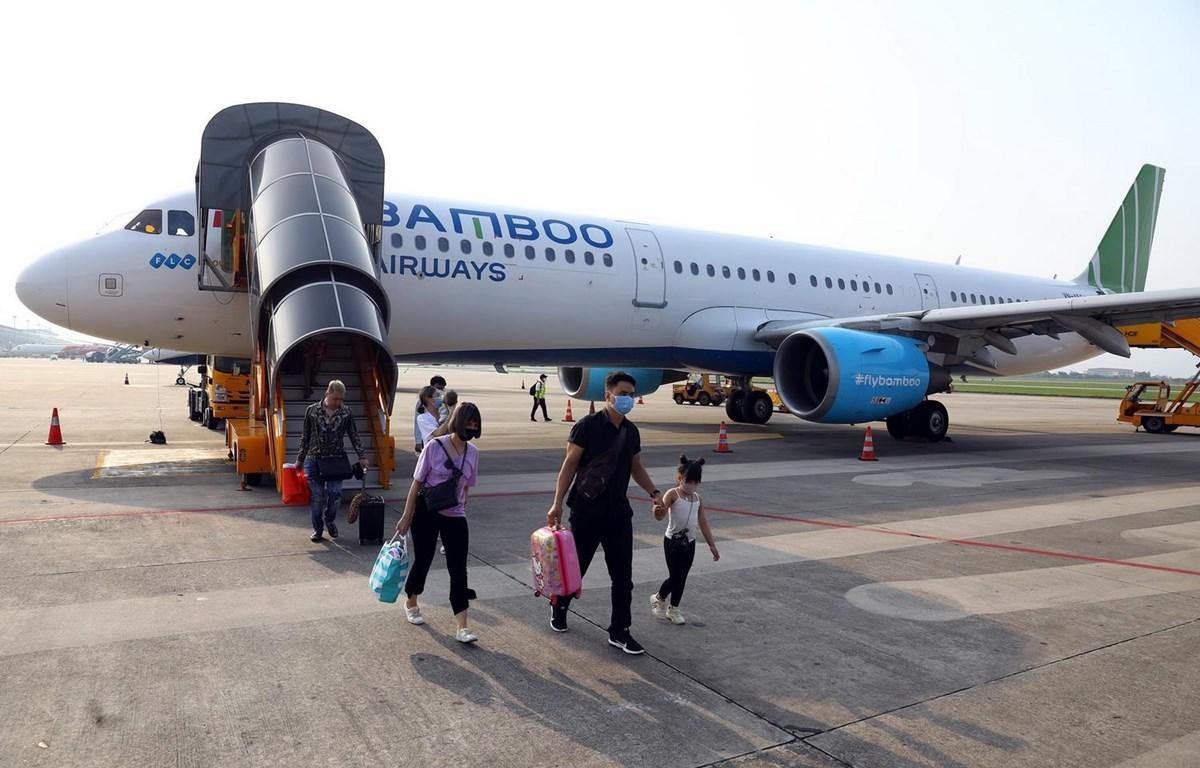 Máy bay của Bamboo Airways. (Ảnh: Huy Hùng/TTXVN)