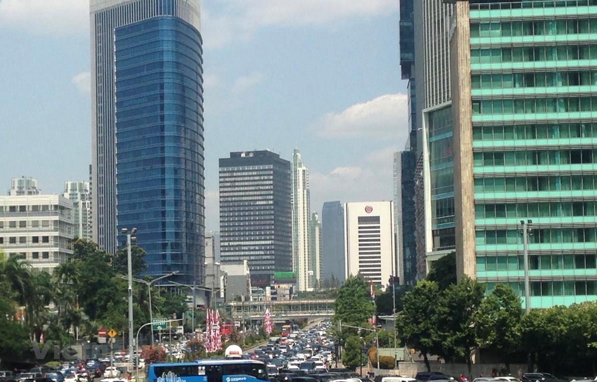 Tuyến đường huyết mạch từ phía Nam vào trung tâm thành phố thường xuyên ùn tắc giao thông. (Ảnh: Đỗ Quyên/Vietnam+)