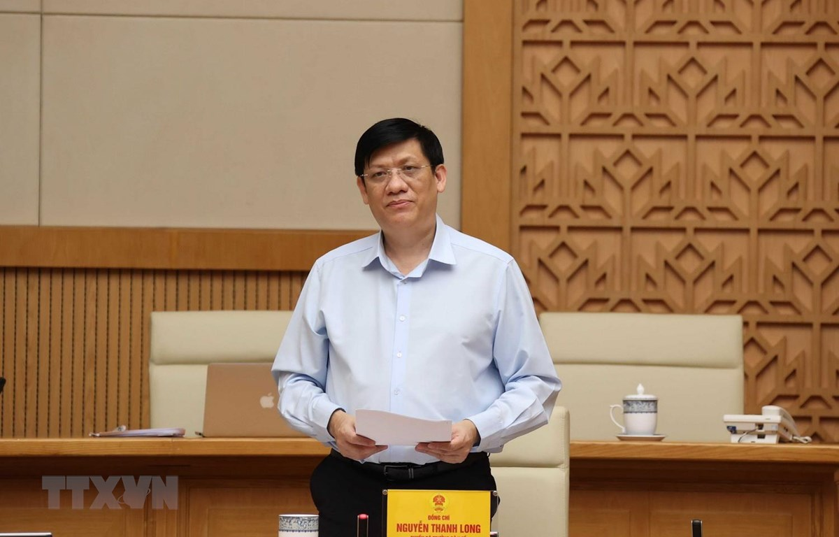 Quyền Bộ trưởng Bộ Y tế Nguyễn Thanh Long là một trong những thành viên của Ban Chỉ đạo Quốc gia phòng, chống dịch COVID-19. (Ảnh: Thống Nhất/TTXVN)