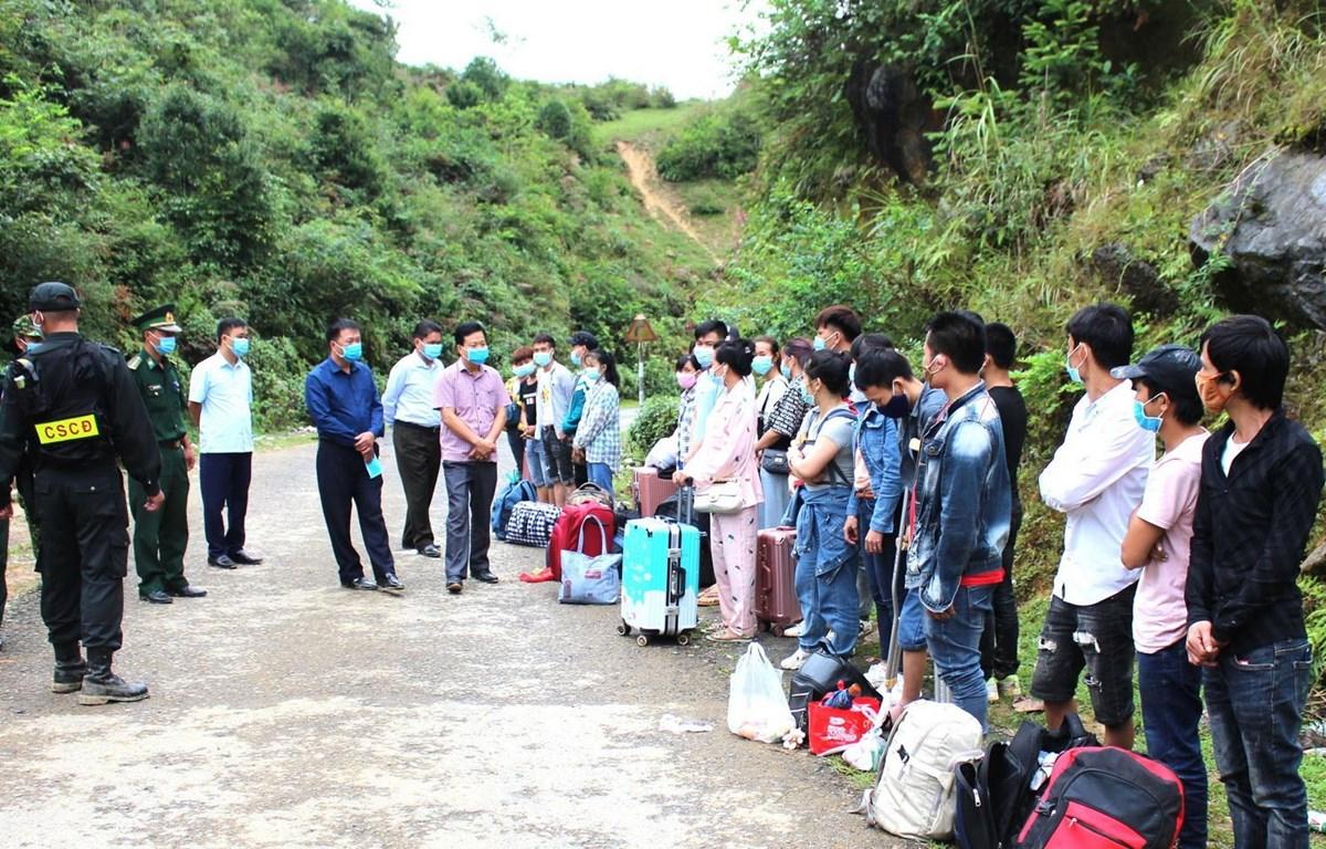 Số công dân nhập cảnh trái phép vào địa bàn huyện Mèo Vạc, tỉnh Hà Giang bị phát hiện ngày 11/9. (Ảnh: Minh Đức/TTXVN phát)