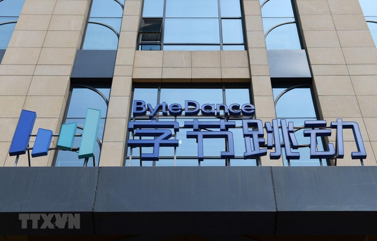 Biểu tượng ByteDance tại trụ sở ở Bắc Kinh, Trung Quốc, ngày 8/7 vừa qua. (Ảnh: THX/TTXVN)