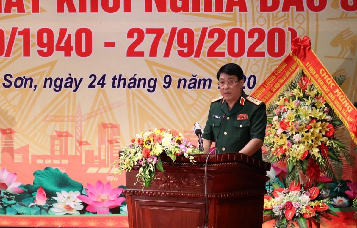 Đại tướng Lương Cường phát biểu tại Lễ kỷ niệm. (Ảnh: Quang Duy/TTXVN)