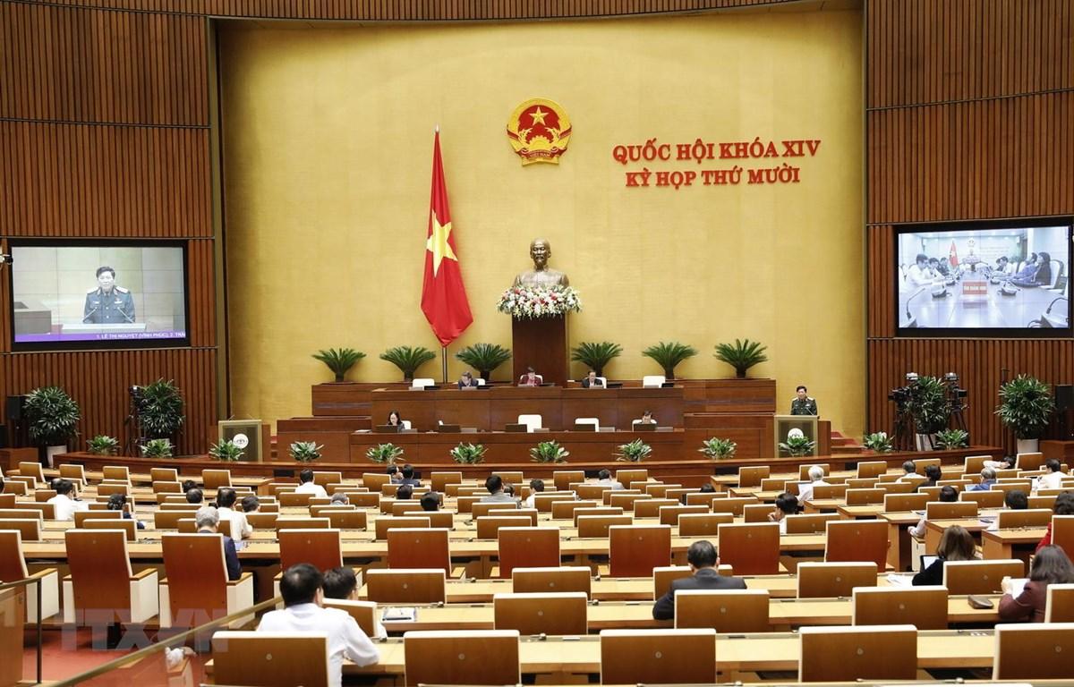 Quang cảnh phiên họp ngày 24/10. (Ảnh: Dương Giang/TTXVN)