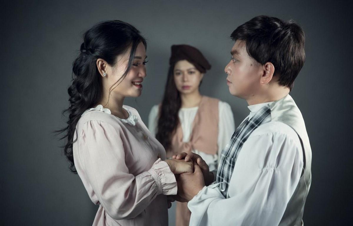 Các nghệ sỹ vào vai trong vở kịch. (Ảnh: thethaovanhoa.vn)