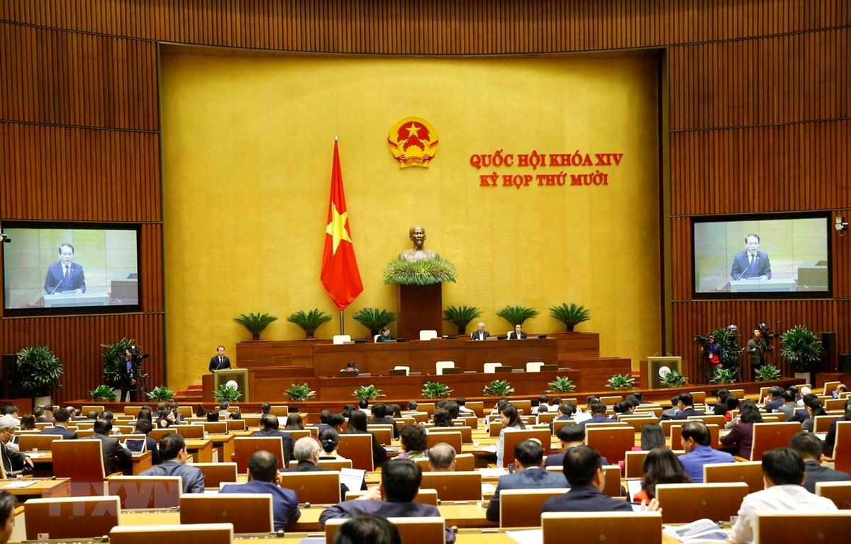 Toàn cảnh phiên họp Quốc hội sáng 16/11. (Ảnh: Doãn Tấn/TTXVN)