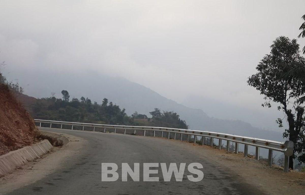 Dự án nâng cấp Quốc lộ 4D nối Hà Giang-Lào Cai cơ bản hoàn thành các hạng mục. (Ảnh: Quang Toàn/Bnews/Vietnam+)
