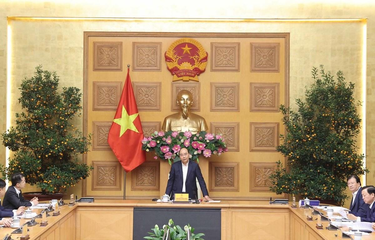 Thủ tướng Nguyễn Xuân Phúc phát biểu ý kiến. (Ảnh: Thống Nhất/TTXVN)