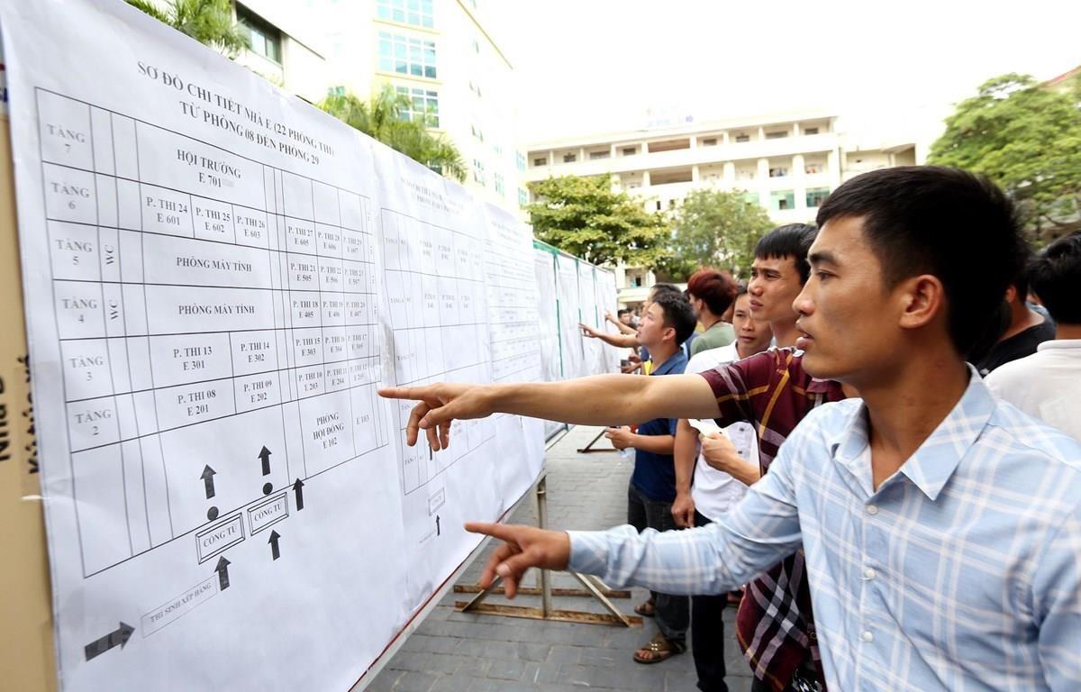 Lao động tham gia kỳ thi tiếng Hàn để sang Hàn Quốc làm việc. (Ảnh minh họa: PV/Vietnam+)