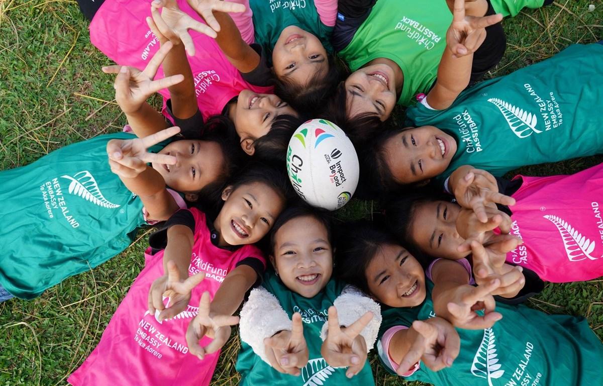 Chương trình thể thao vì phát triển đều góp phần đạt được bình đẳng giới, giảm bất bình đẳng và chấm dứt bạo lực đối với trẻ em. (Ảnh: ChildFund Việt Nam)