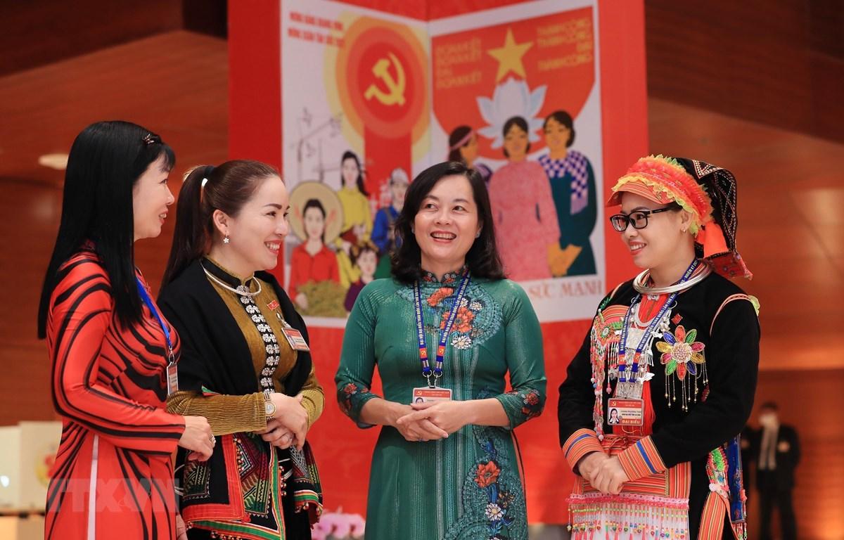 Tỷ lệ phụ nữ được giới thiệu ứng cử đại biểu Quốc hội khóa XV đạt cao nhất trong 4 khóa bầu cử Quốc hội gần đây. (Ảnh minh họa: PV/Vietnam+)