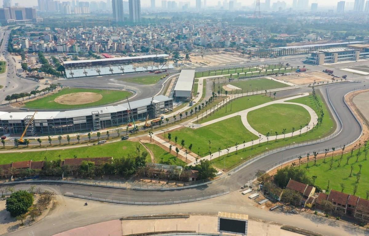 Khu vực đường đua F1 tại Hà Nội trước khi bị dỡ bỏ. (Ảnh nguồn: VGPC)