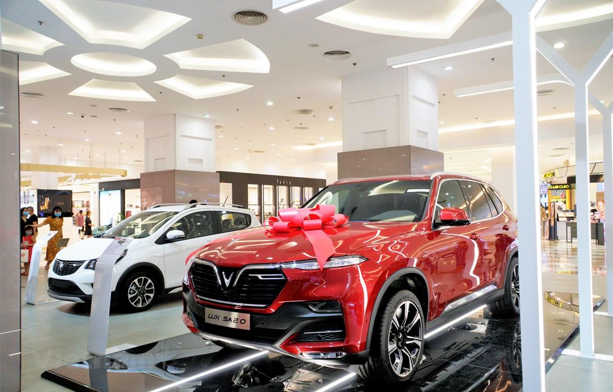 VinFast tổng kết năm 2020 với doanh số khá ấn tượng: 29.485 chiếc xe ôtô được bán ra. (Ảnh: PV/Vietnam+)