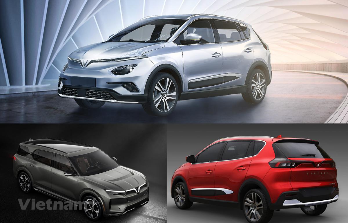 Hình ảnh các mẫu SUV điện mới của VinFast. (Ảnh nguồn: VinFast)