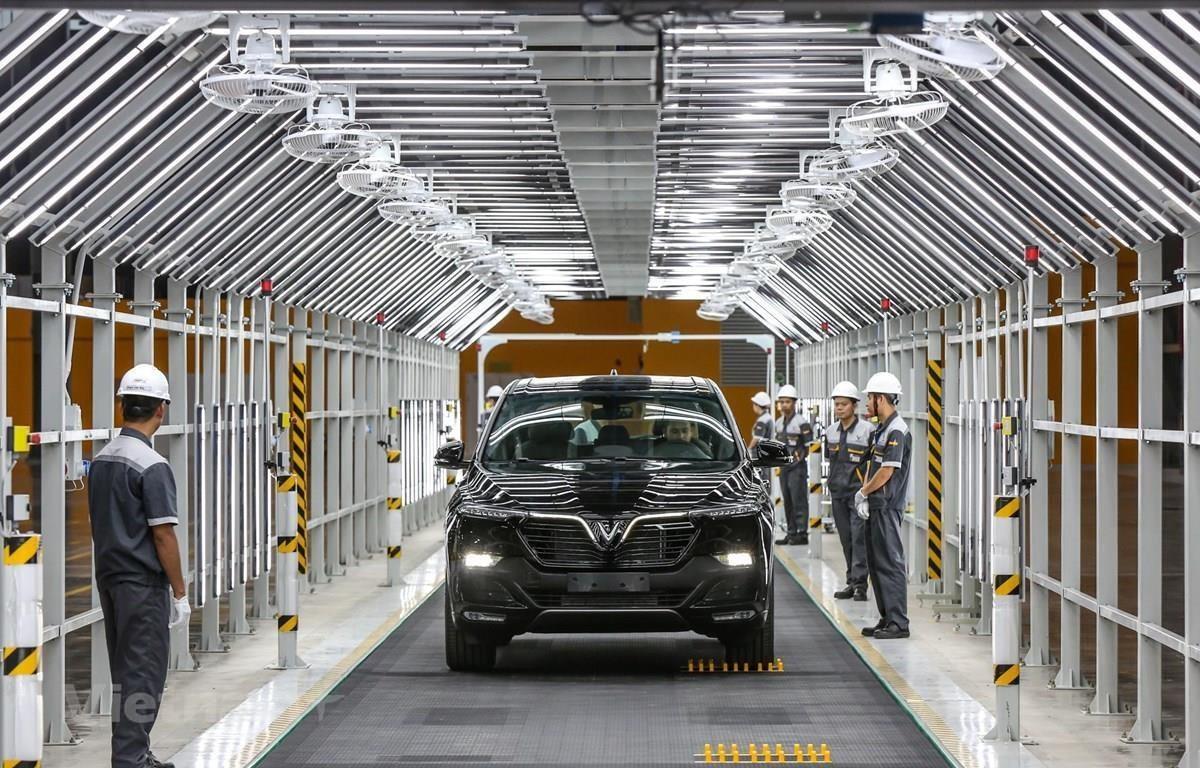 Nhà máy sản xuất xe hơi VinFast tại Hải Phòng. (Ảnh: PV/Vietnam+)