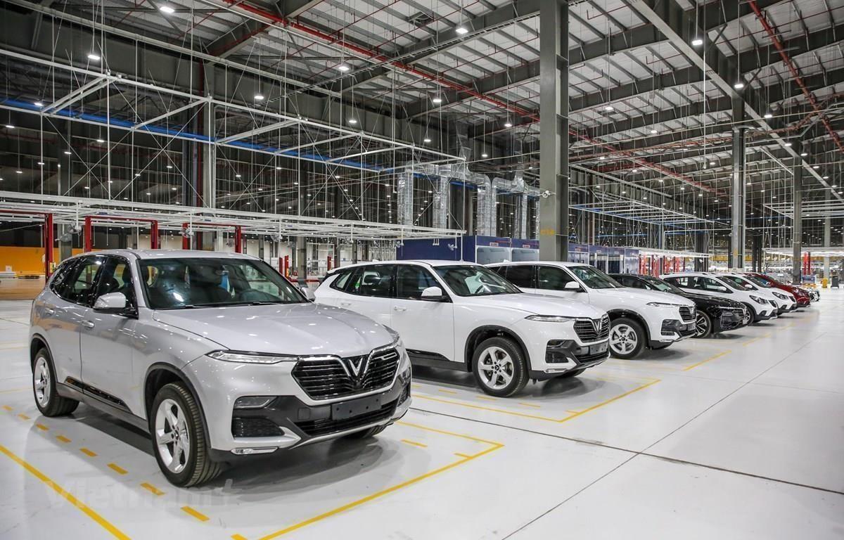 Nhà máy sản xuất xe VinFast tại Hải Phòng. (Ảnh: PV/Vietnam+)