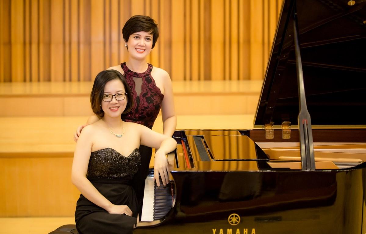 Chương trình song tấu piano của hai nghệ sỹ nhóm Duo Mây sẽ diễn ra vào tối 9/3 tại Hà Nội. (Ảnh: PV/Vietnam+)