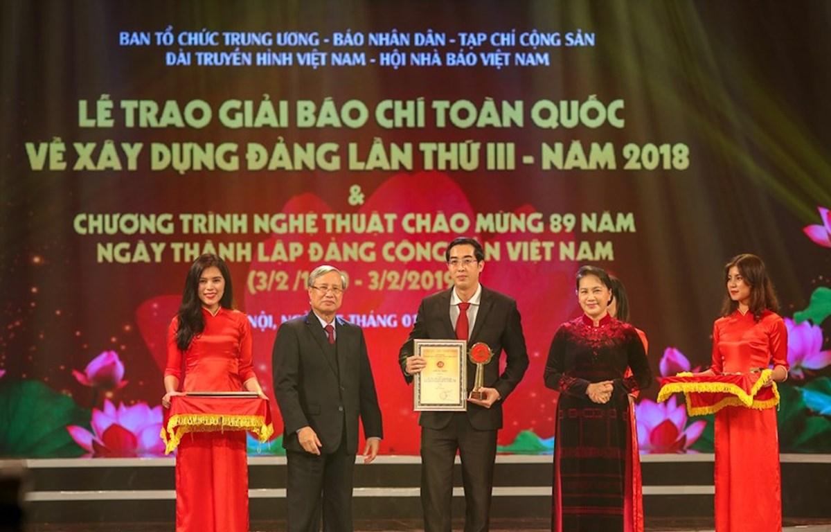 Giải Búa Liềm Vàng được tổ chức nhằm tiếp tục khẳng định vị trí, vai trò quan trọng của công tác xây dựng Đảng. (Ảnh: Vietnam+)