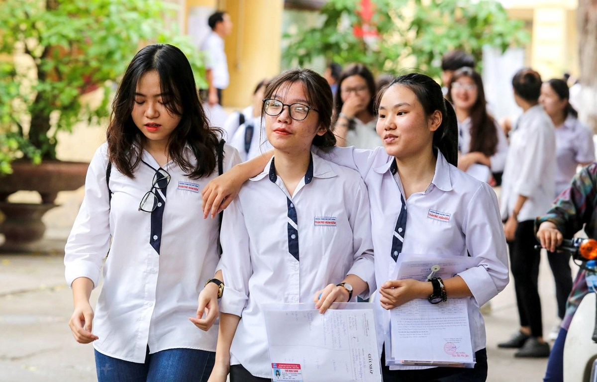 Kỳ thi Trung học phổ thông quốc gia luôn thu hút sự quan tâm đặc biệt của dư luận. (Ảnh minh họa: Vietnam+)