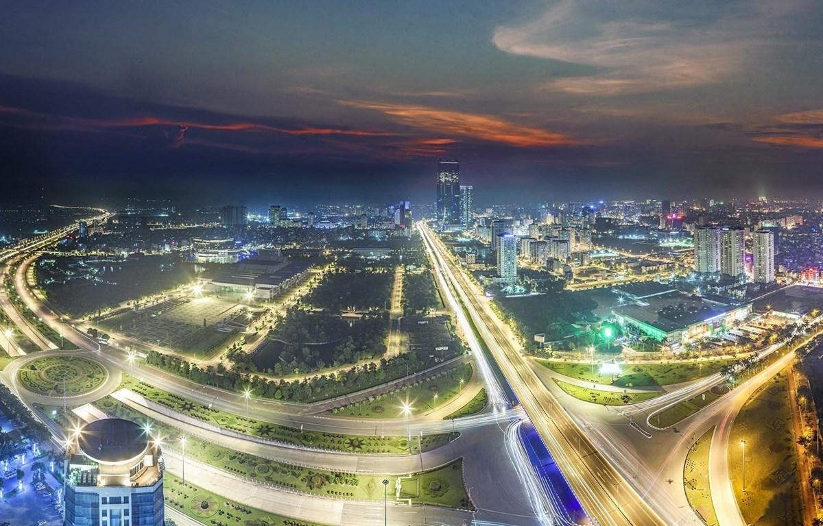 Nút giao thông Đại lộ Thăng Long-Phạm Hùng-Nguyễn Chí Thanh, một trong những công trình giao thông trọng điểm của Hà Nội. (Ảnh: Trọng Đạt/TTXVN)