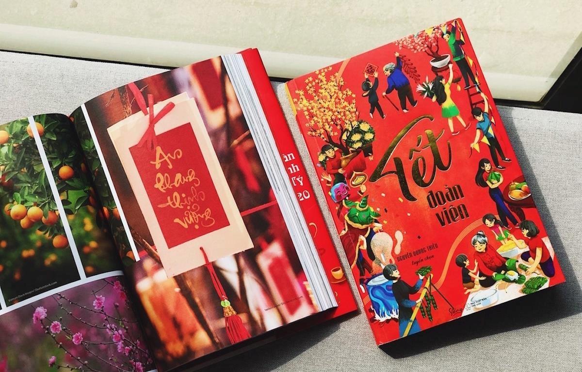 Sách Tết được đầu tư kỹ lưỡng cả về nội dung và hình thức. (Ảnh: CTV/Vietnam+)